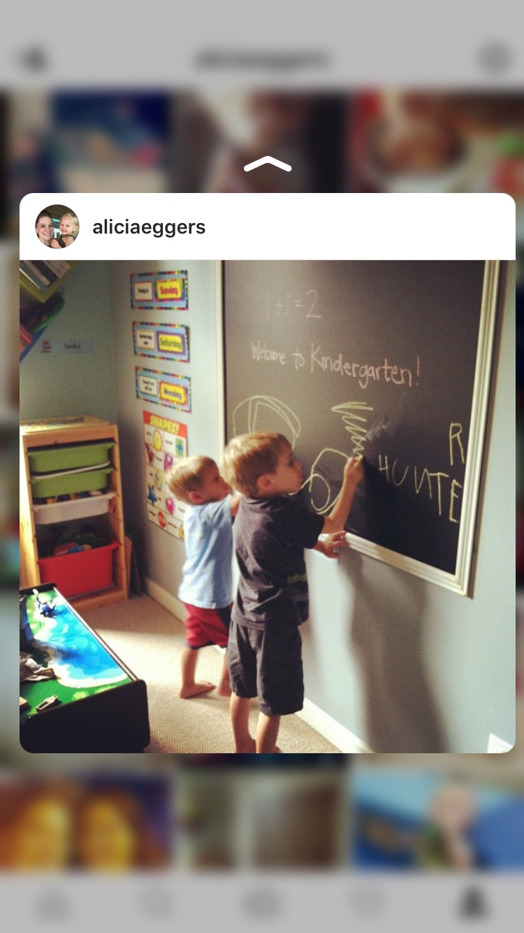 Our very first day of homeschooling, August 2012.