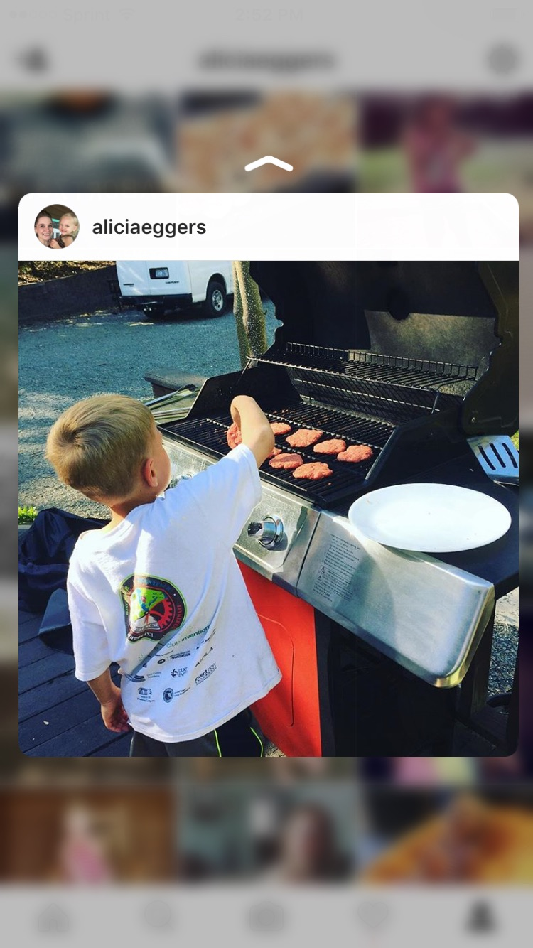 Homeschooling is developing a passion. Carter's passion is cooking.