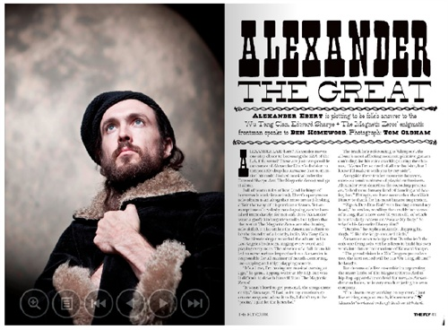 In the new bumber issue of The Fly, Alexander Ebert. The best shoot too.