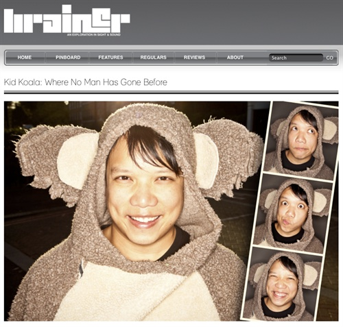 Brainer has this wonderfully curated content that features loads of the stuff I love. Always a fan of an open brief, I swanned down to Ninja Tune to shoot Kid Koala and this furball of joy awaited me. Have a peep at this and a rummage around  Brainer , if you're busy procrastinating like myself right now. Maybe do it listening to an old tune like  this . Outstanding.