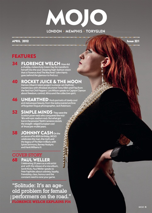 Lovely contents page for Florence featuring in Mojo. Feels very nice to have a big splash in a great title like Mojo.