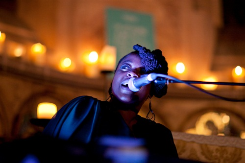 Do you know Eska? You do? Well, imagine hearing her in a chapel... Honestly. The beauty and purity seemed somehow almost beyond music. Gilles curated this lot together for House of St Barnabas and I was very proud indeed to be asked along by Sav Remzi, an old school legend in the game. Lotta love in this house.