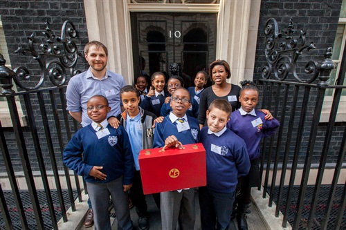So this WAS fun. We went down to Number 10 for a ministerial takeover where the ministers of the Ministry of Stories gave new roles (eg Minister for 90s R+B) to some MPs that were up for getting involved a bit. It was magical and the junior ministers were such fun and managed the situation so perfectly. Heartwarming.