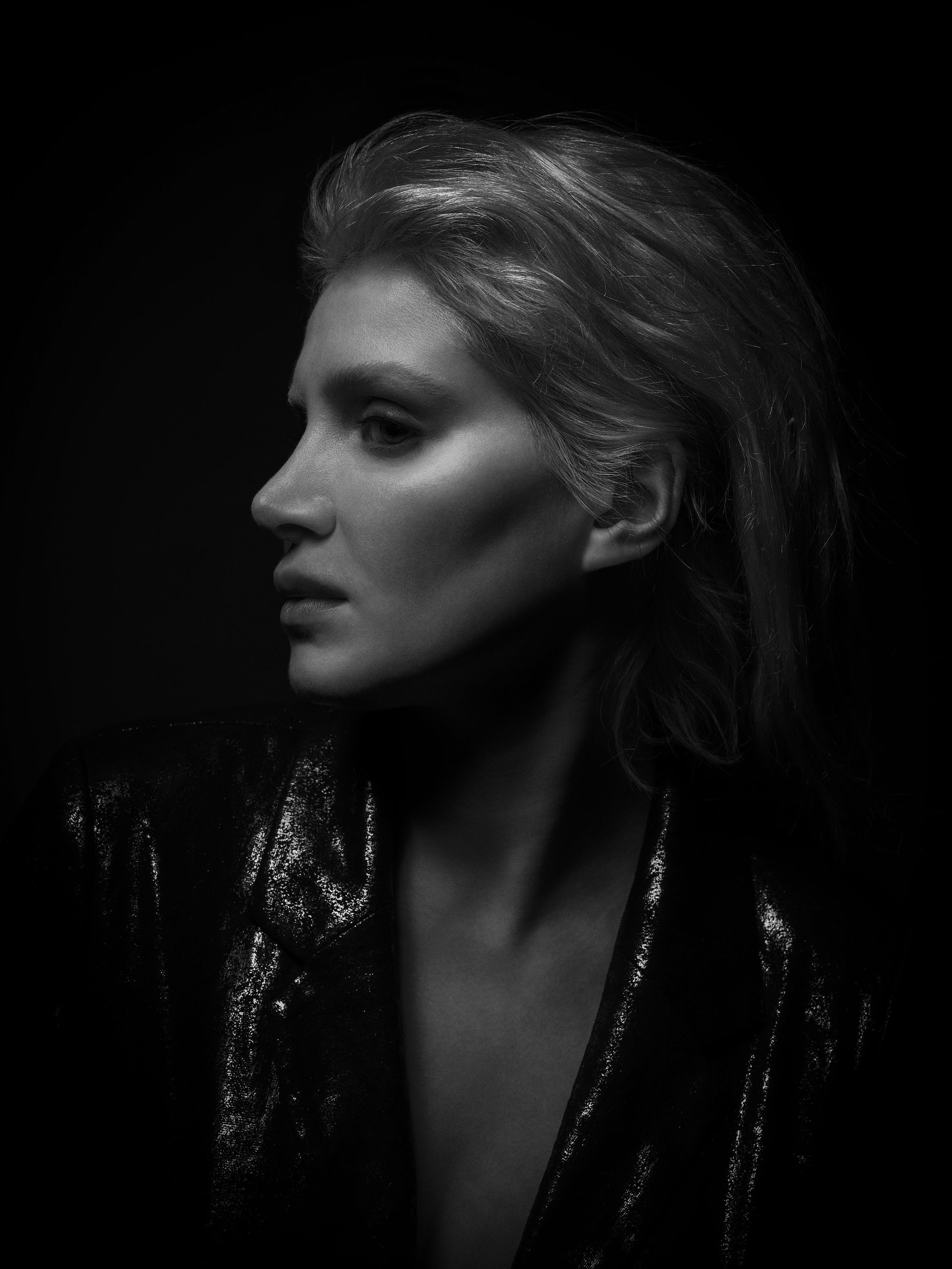 Studio shoot with actor and model Cali. Hard not to over-emphasise those cheekbones it was.