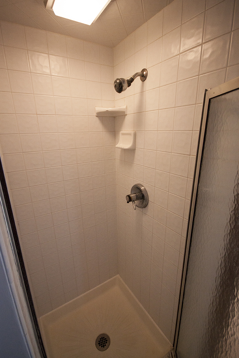 Shower in master bedroom.