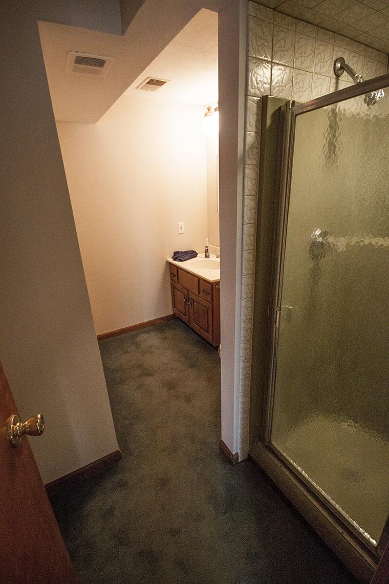 Basement bathroom.