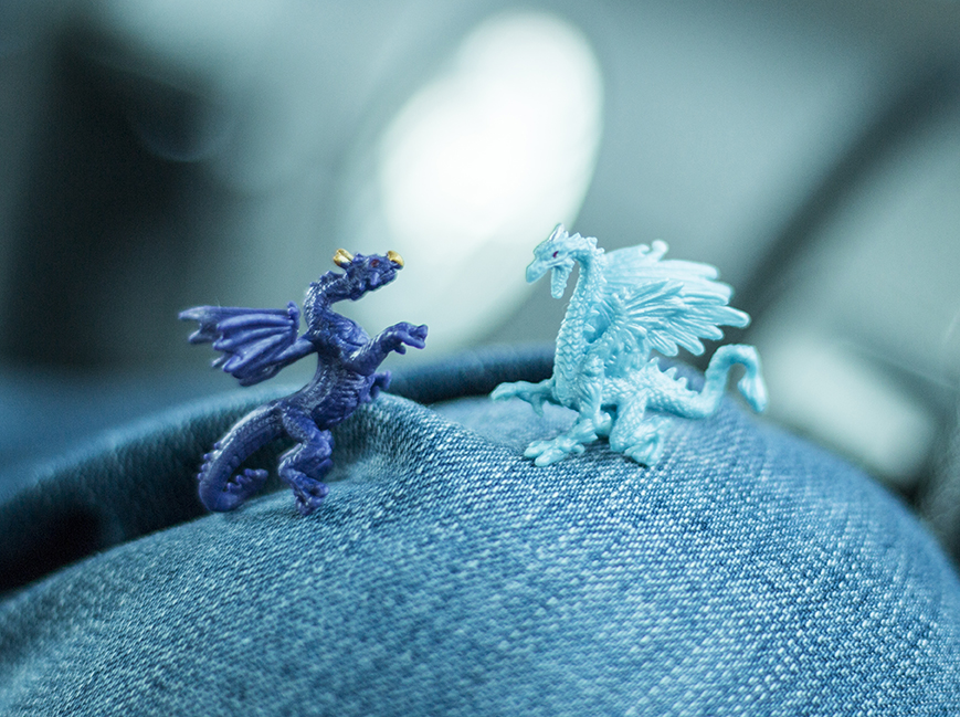 Two dragons from the toy store.