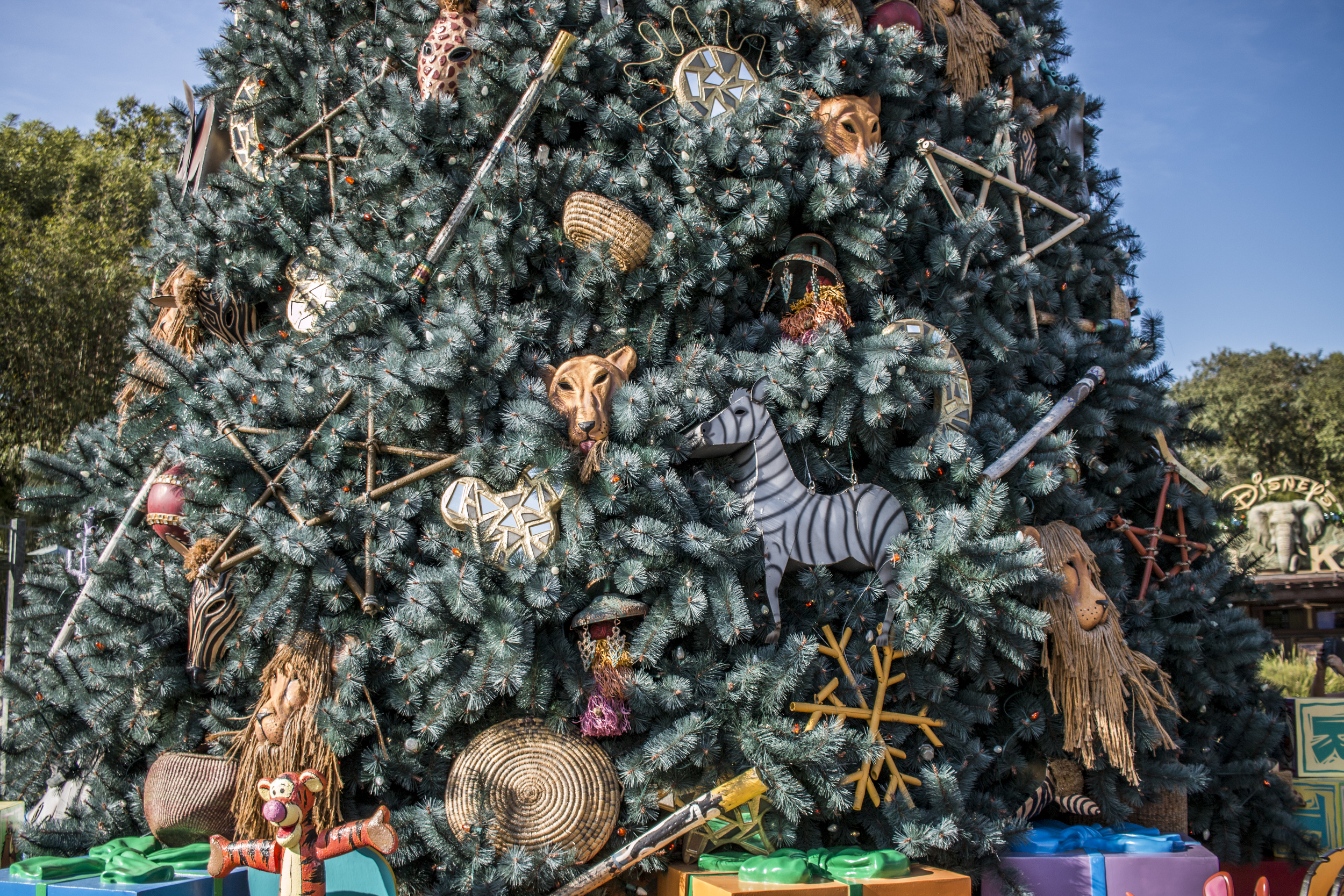 Animal Kingdom set up a Disney-animal-themed christmas tree, and it was very neat.