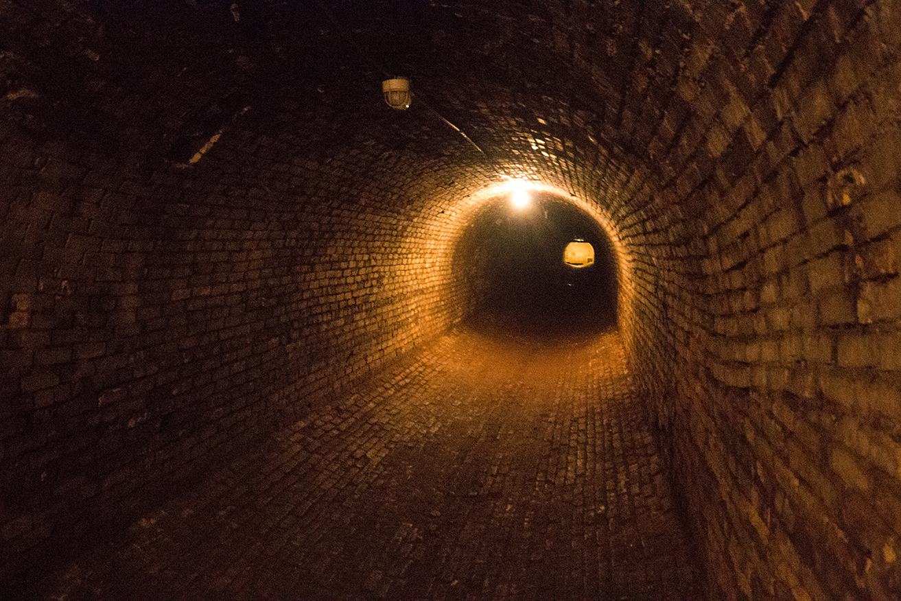 Tunnels beneath the campus, because it gets cold in Michigan.