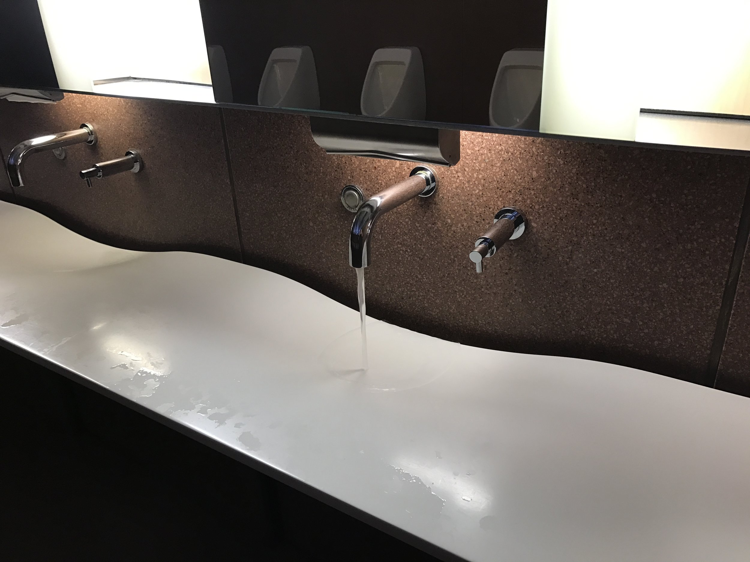 The bathrooms had a lot of neat designs, including this sink.