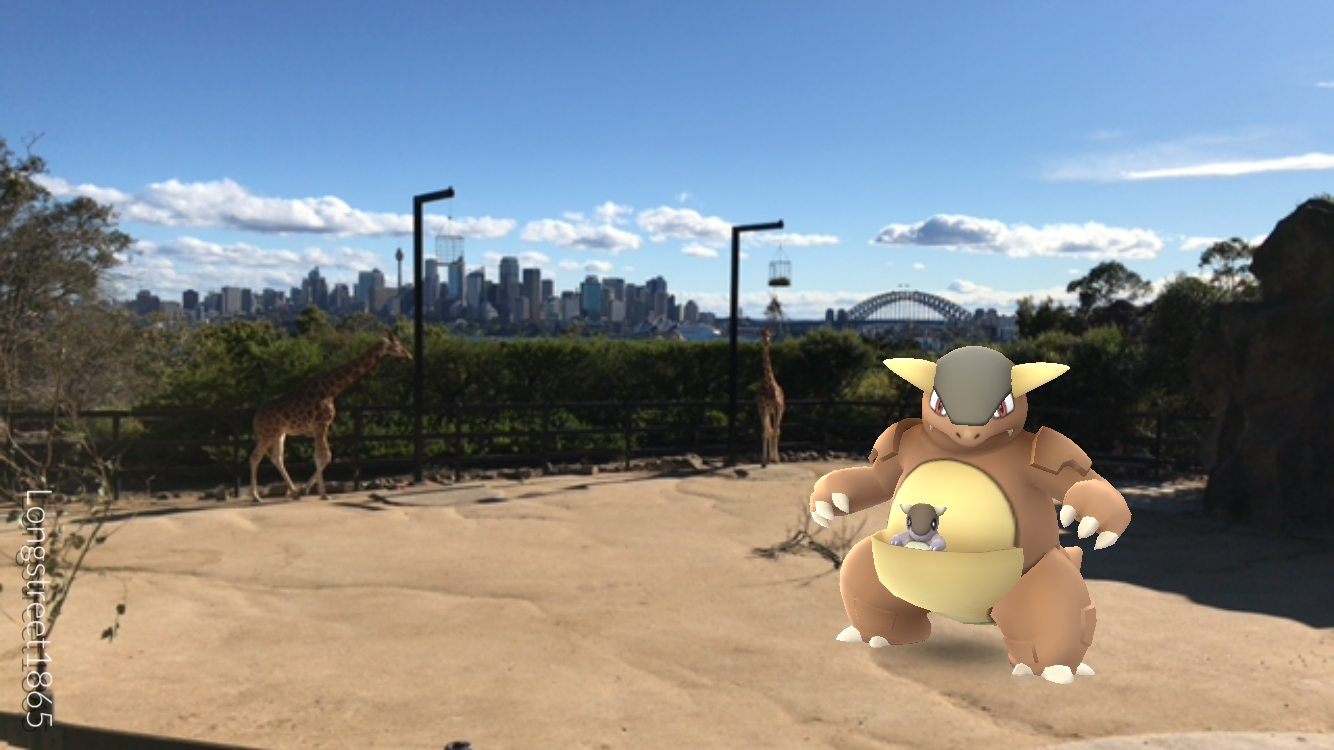 Found a Kangaskhan in one of the zoo enclosures