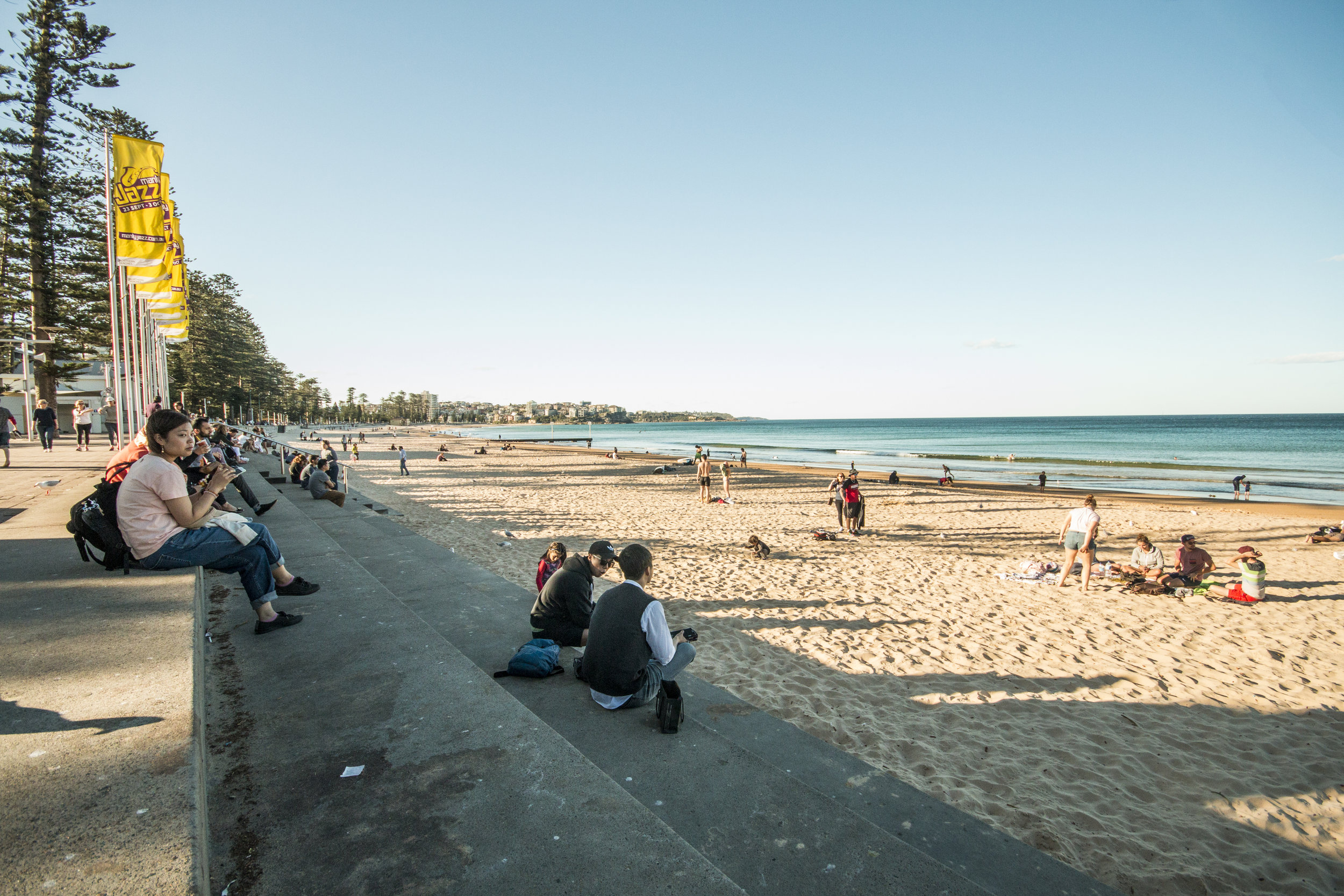 The Manly beach