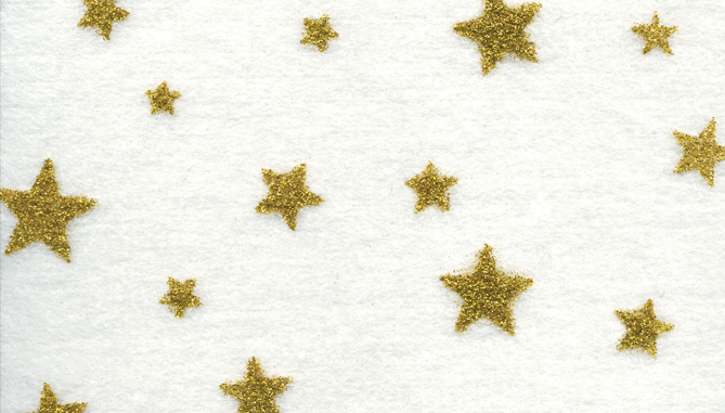 44T262 - White with Gold Stars