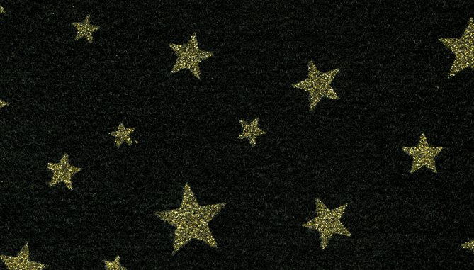 44T260 - Black with Gold Stars