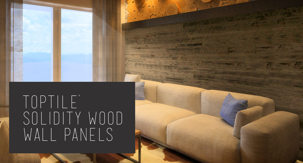 TopTile™ Solidity Wood Wall Panels (above).