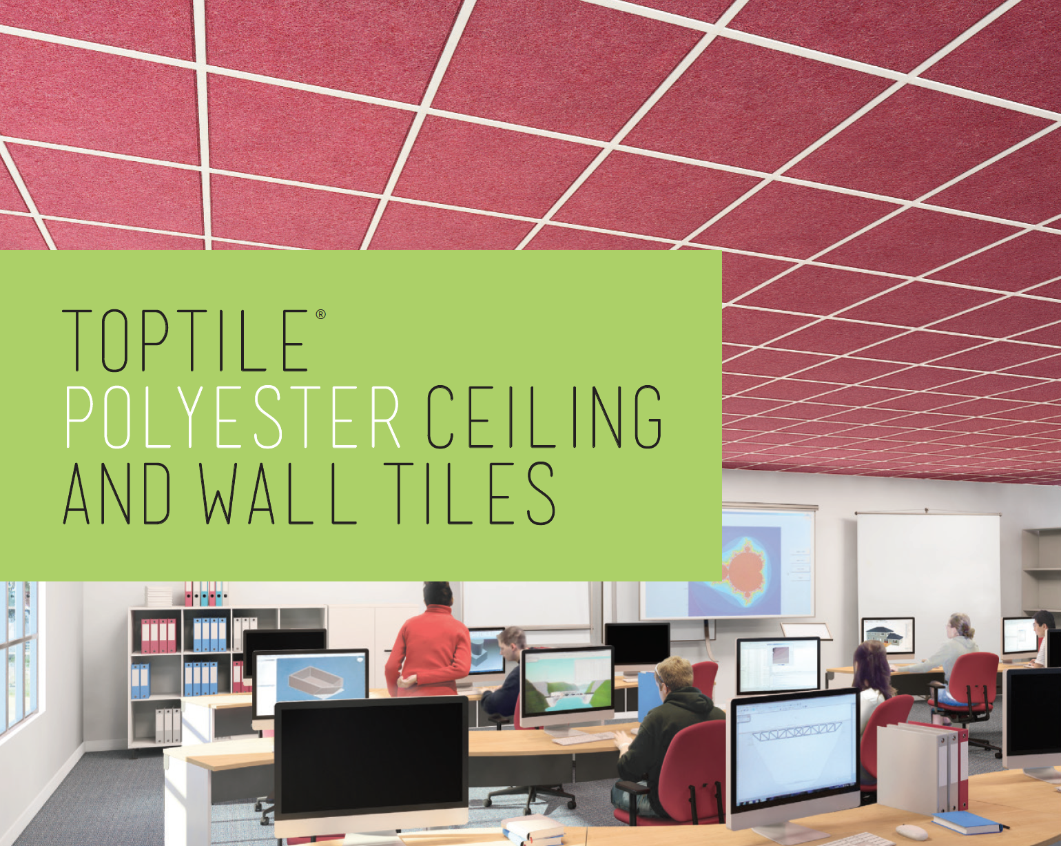 TopTile® Polyester Lay-in Ceiling Tiles (above).