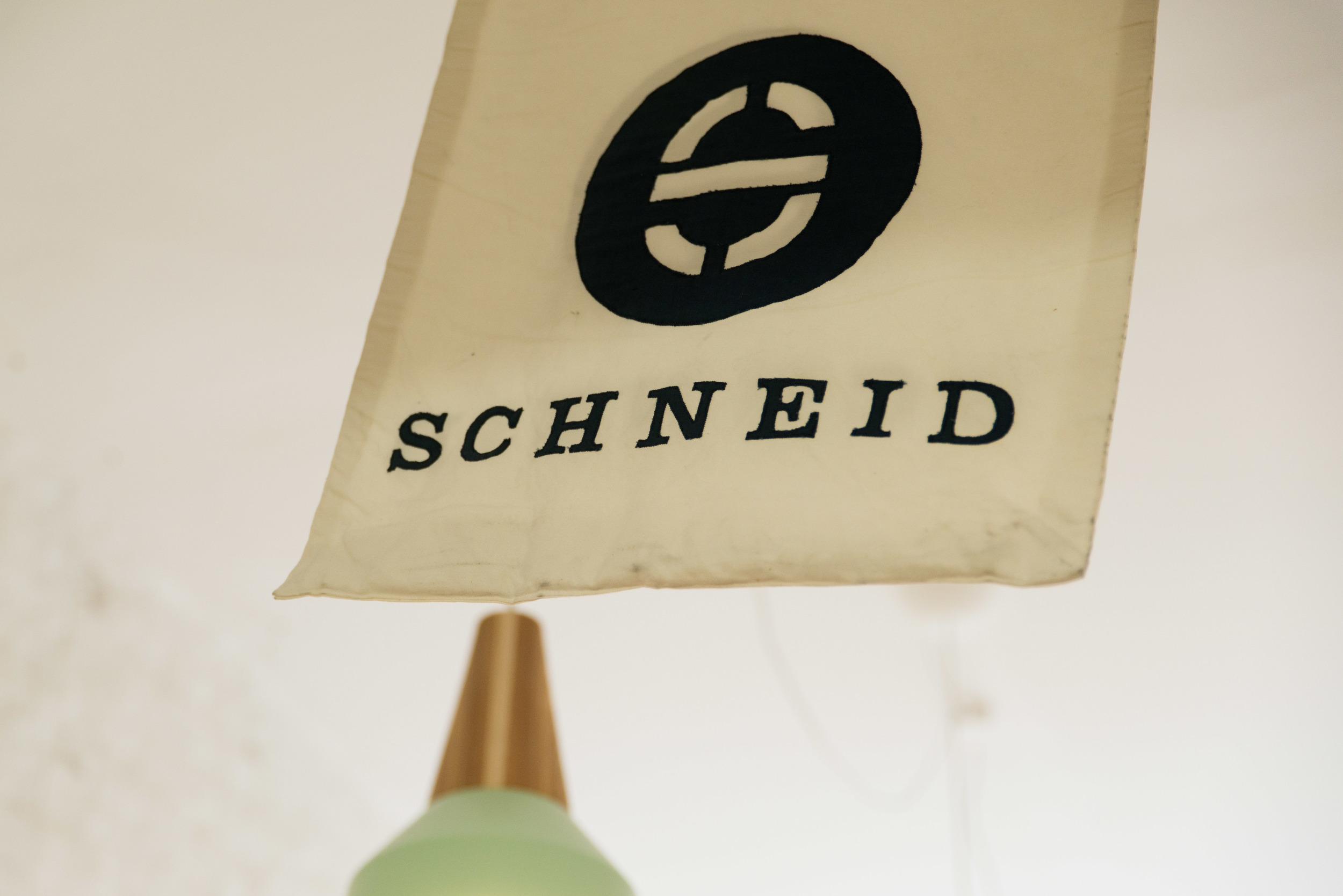 Handmade flag in our studio