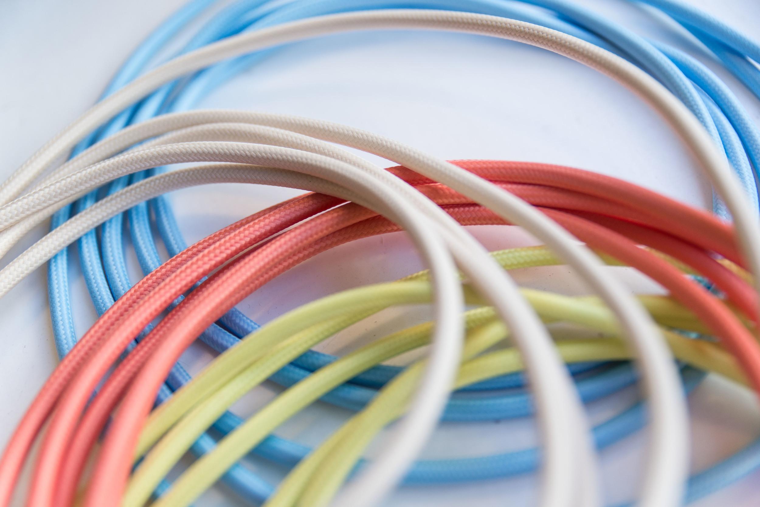 Coloured textile cables!