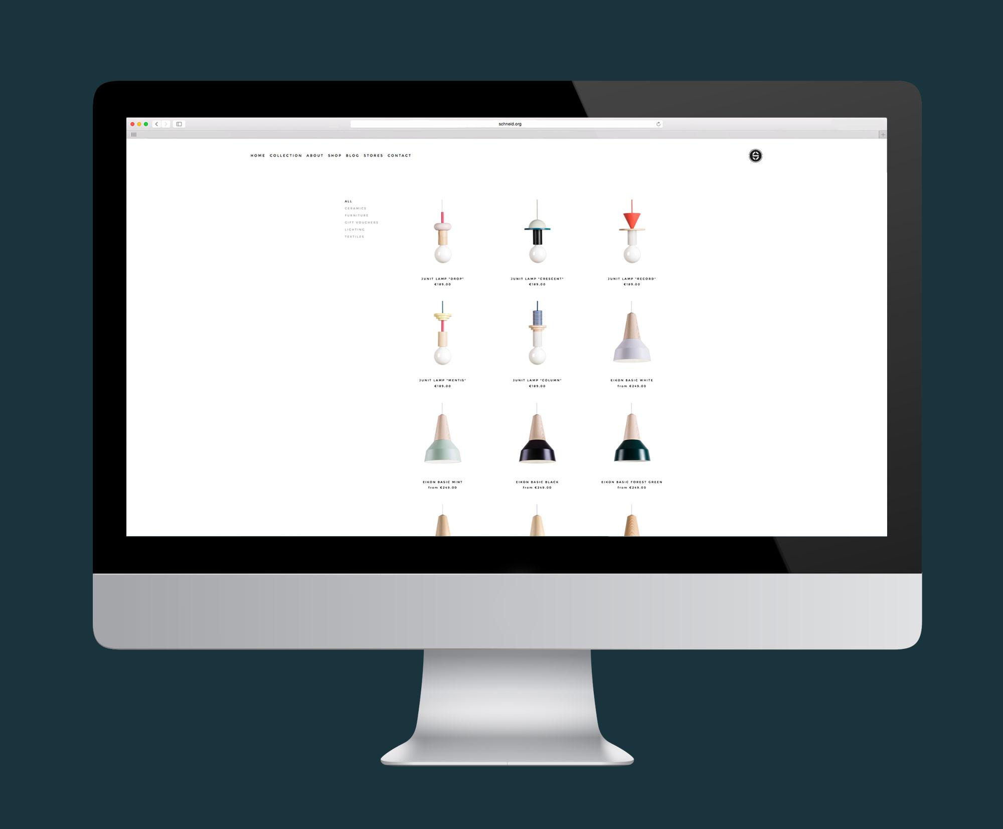 Schneid Lighting & Furniture | Website