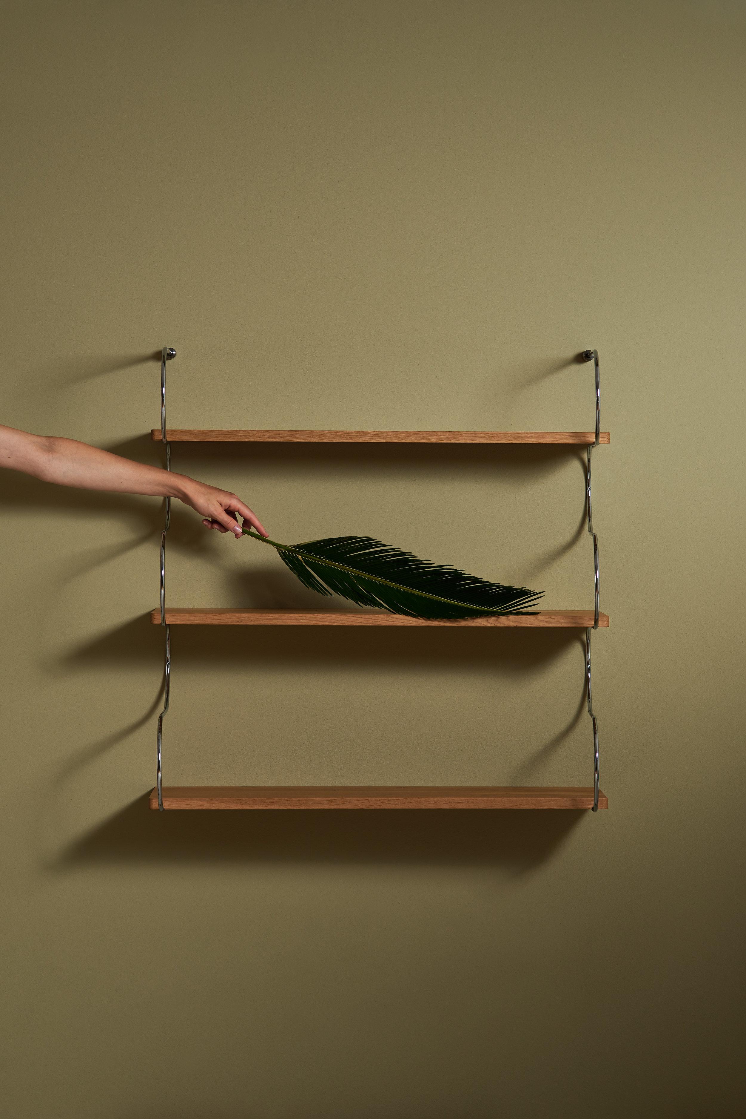 Onda shelving system by Schneid Studio