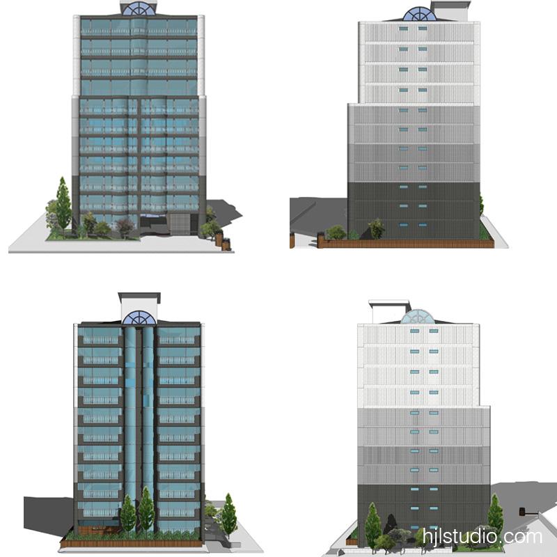 3D STUDY - COLOR SCHEME ELEVATIONS