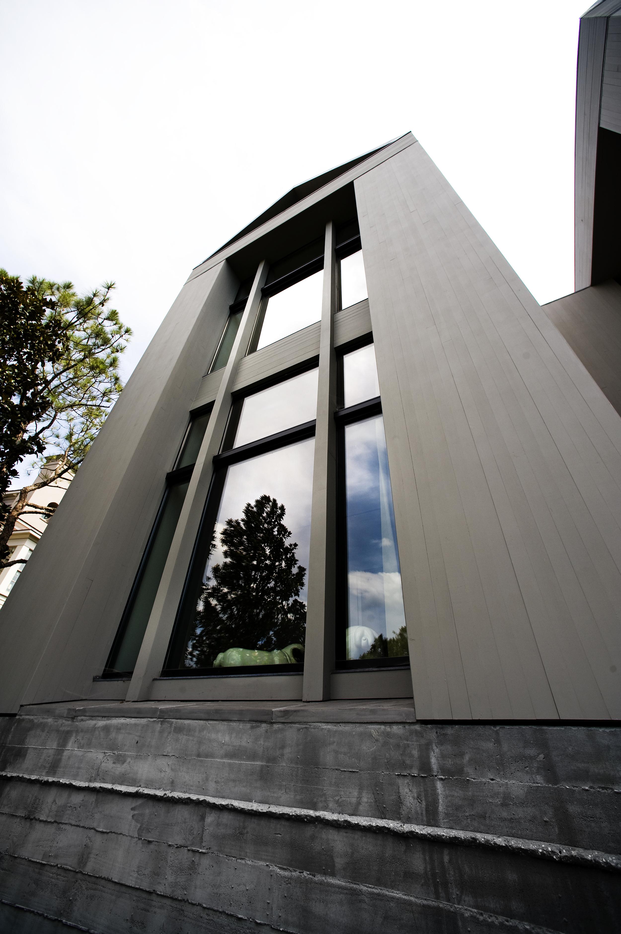 30 foot impact glass Meranti Wood Fixed Window