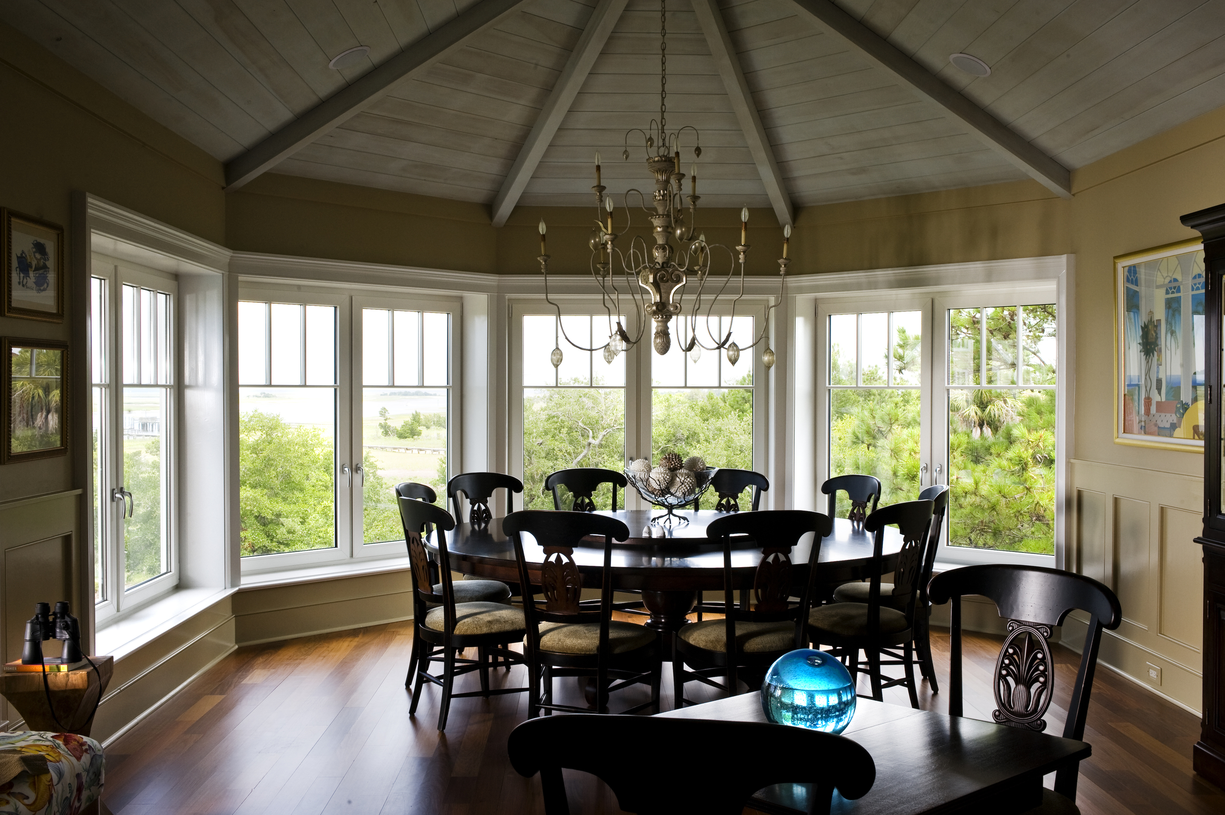 French Casement Windows in a Bow