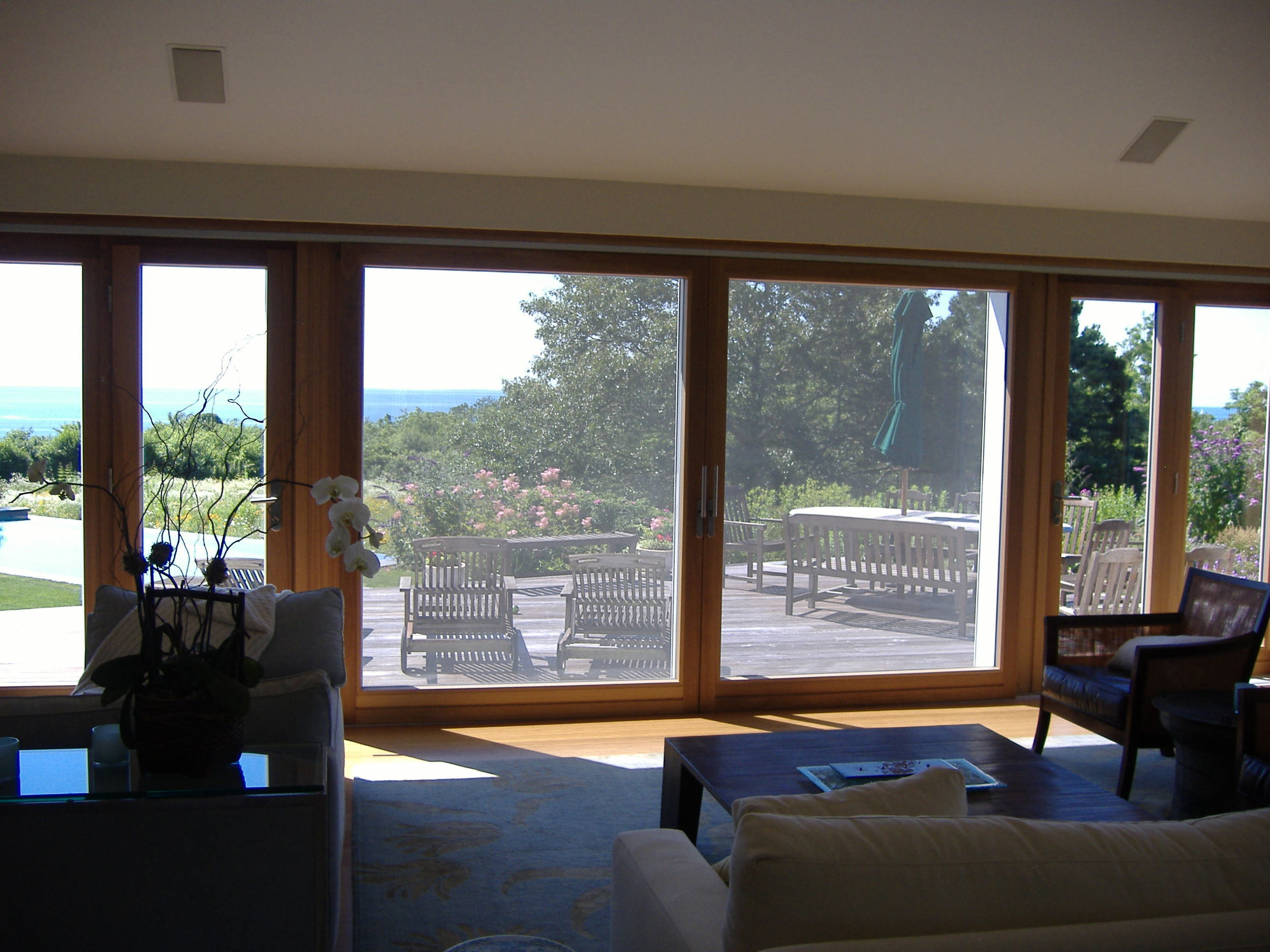 24 foot long Lift and Slide Door with French Doors as Sides