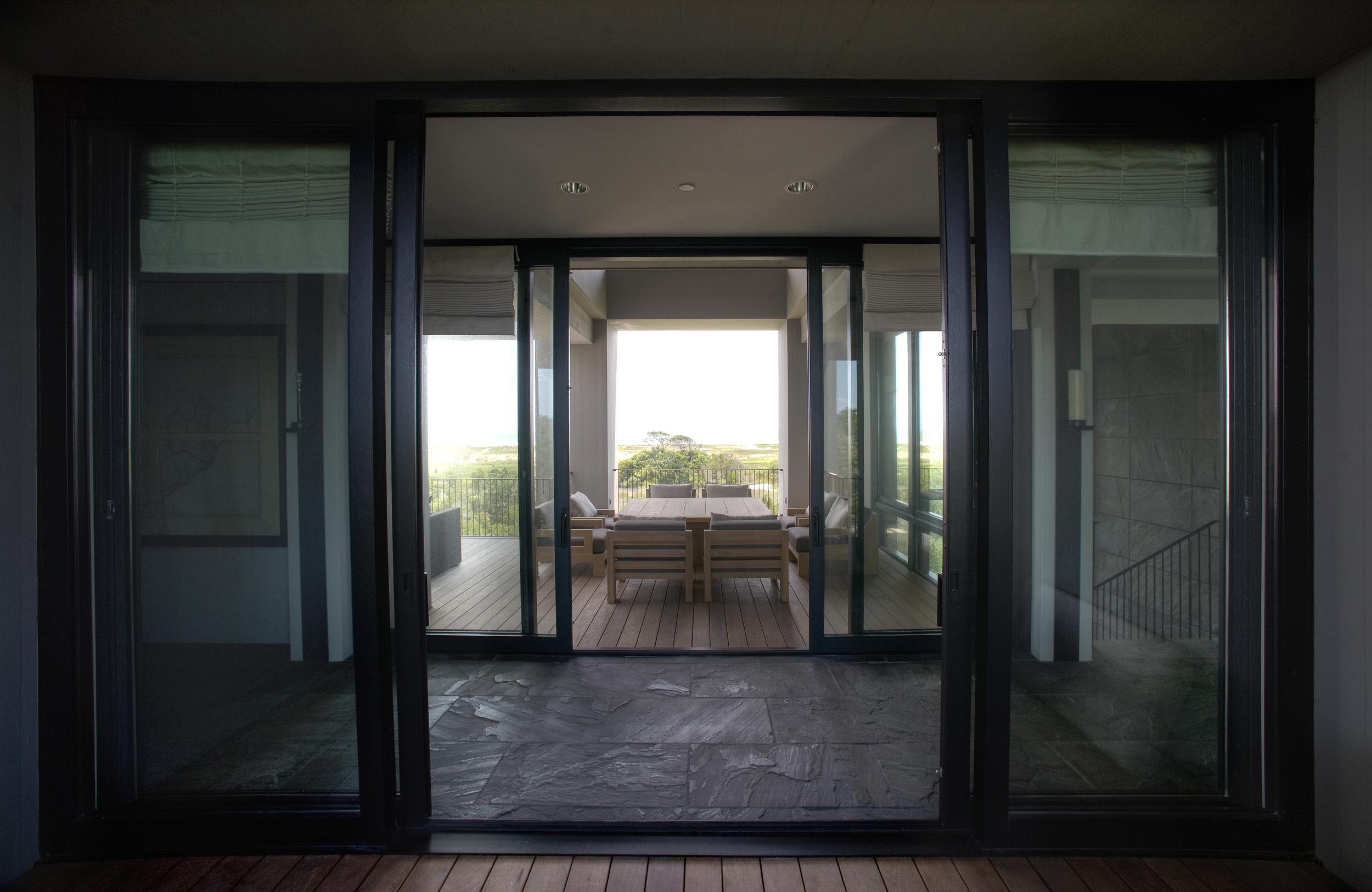 Mahogany French Lift and Slide Doors