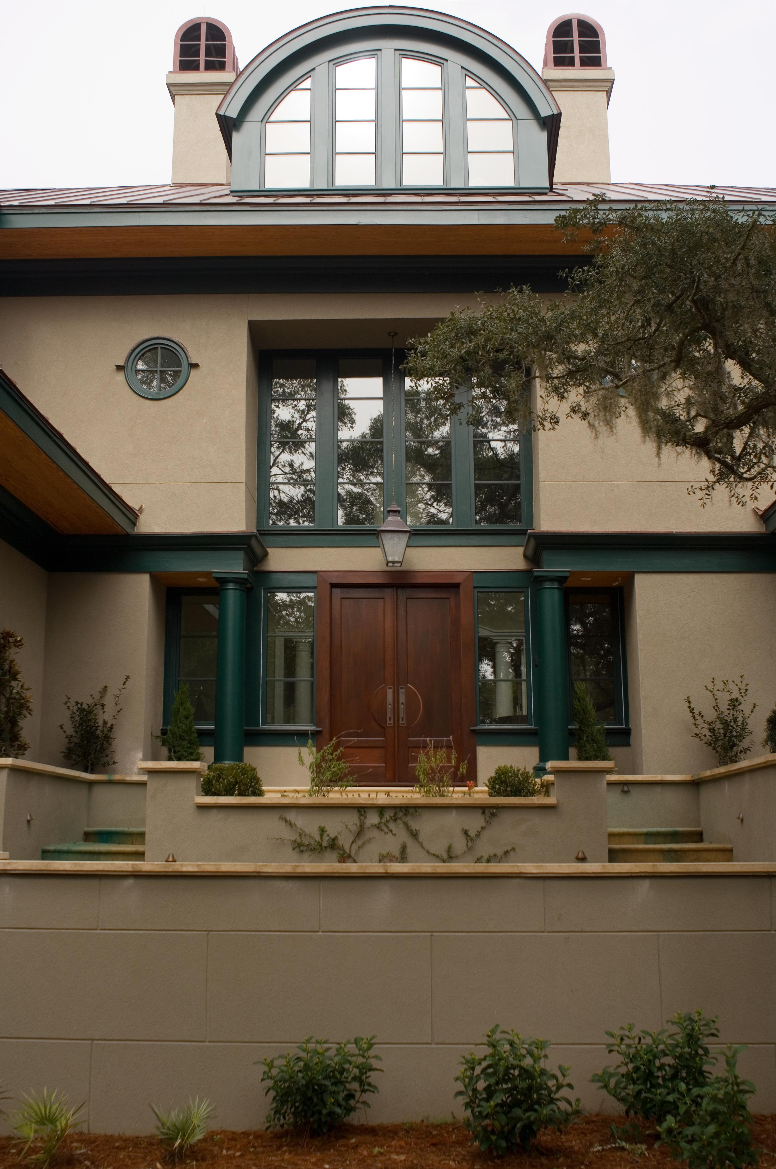 Red Meranti Wood Front Entrance Door