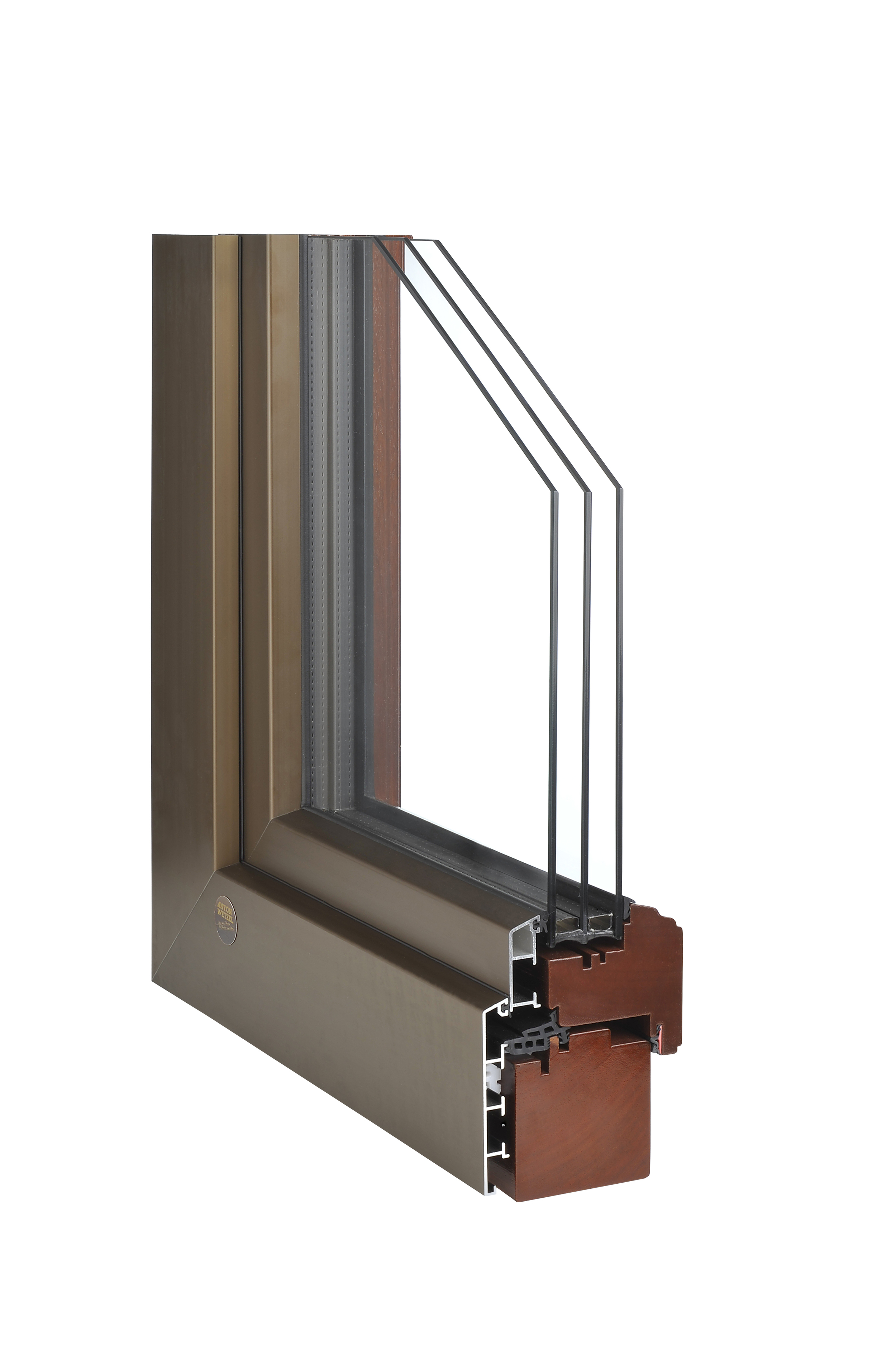 Bronze Clad Mahogany Window