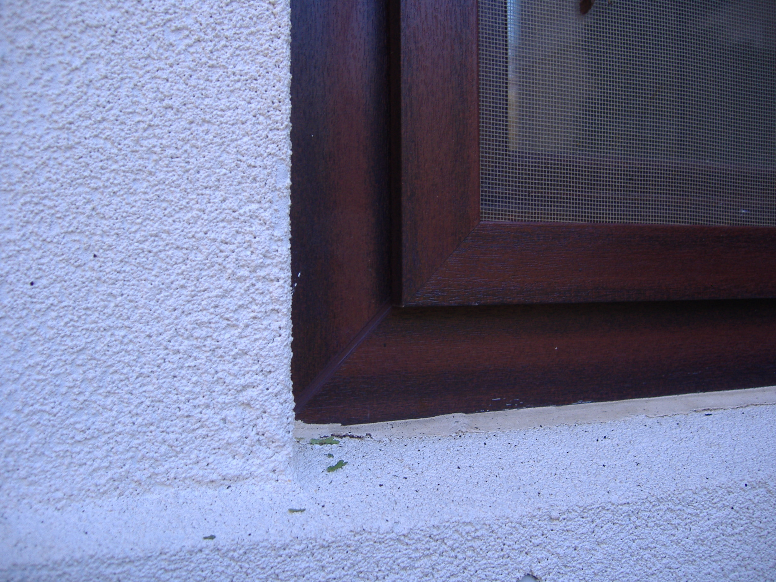 Wood Grain Laminated UPVC with Matching Insect Screen Profile