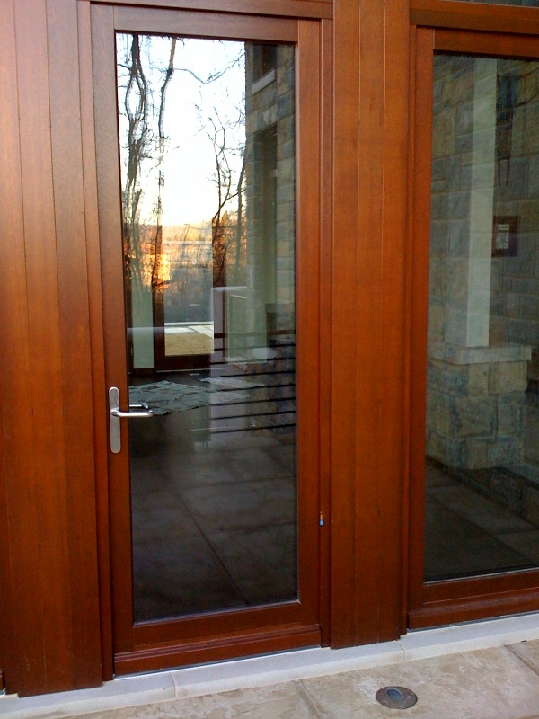 Meranti Wood Door Finished to Mahogany