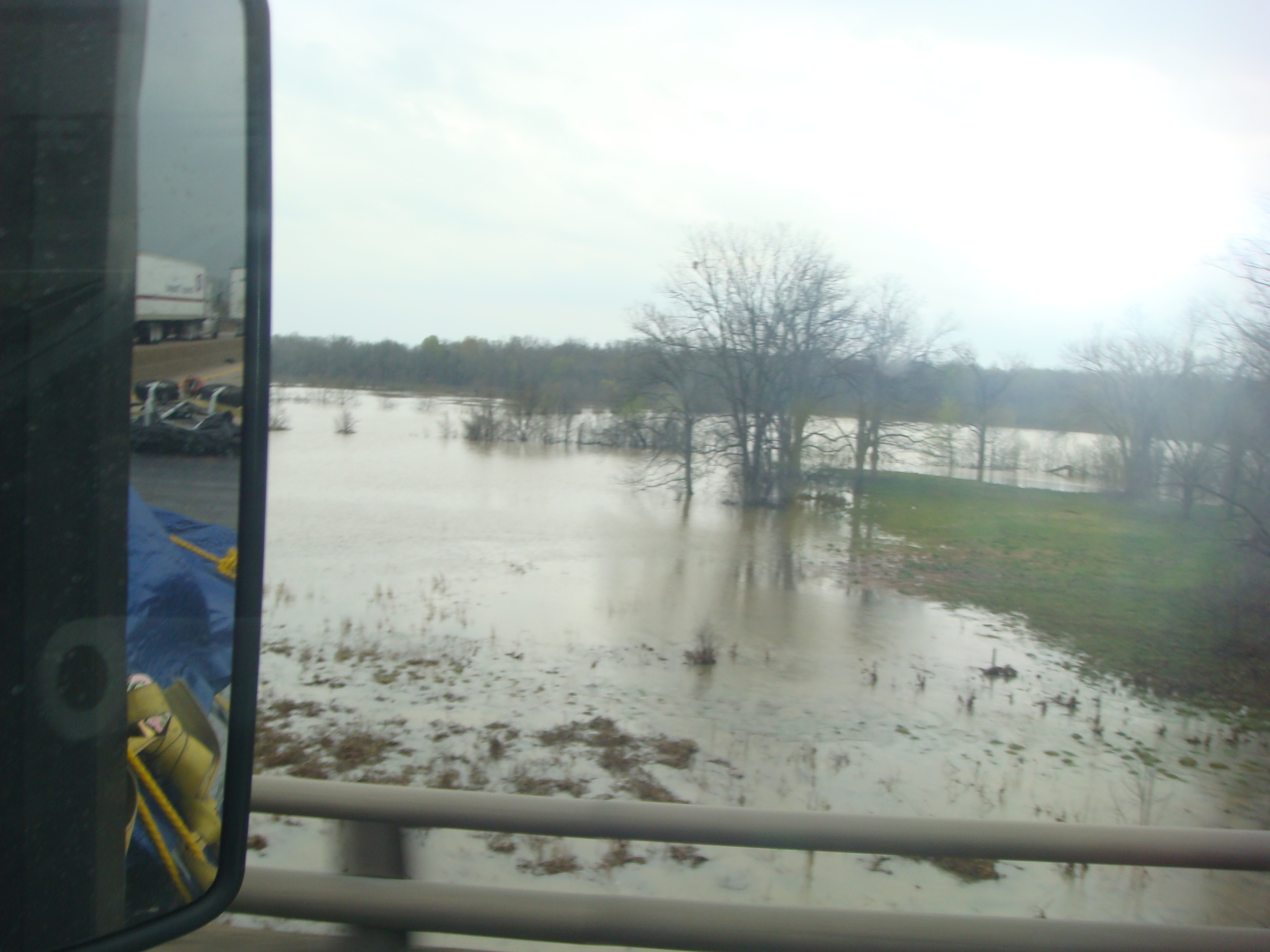 Flooded Mississippi River