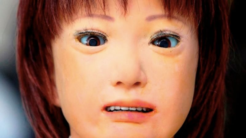 My favorite example of the uncanny valley concept. A face only a nightmare could love.