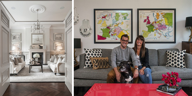 Photo credits: (left) Elle Decor; (right) The Washington Post, Bill O'Leary