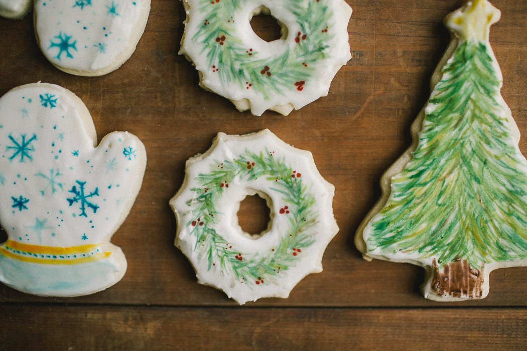 Hand Painted Sugar Cookies Christmas 2014 Grace E Jones