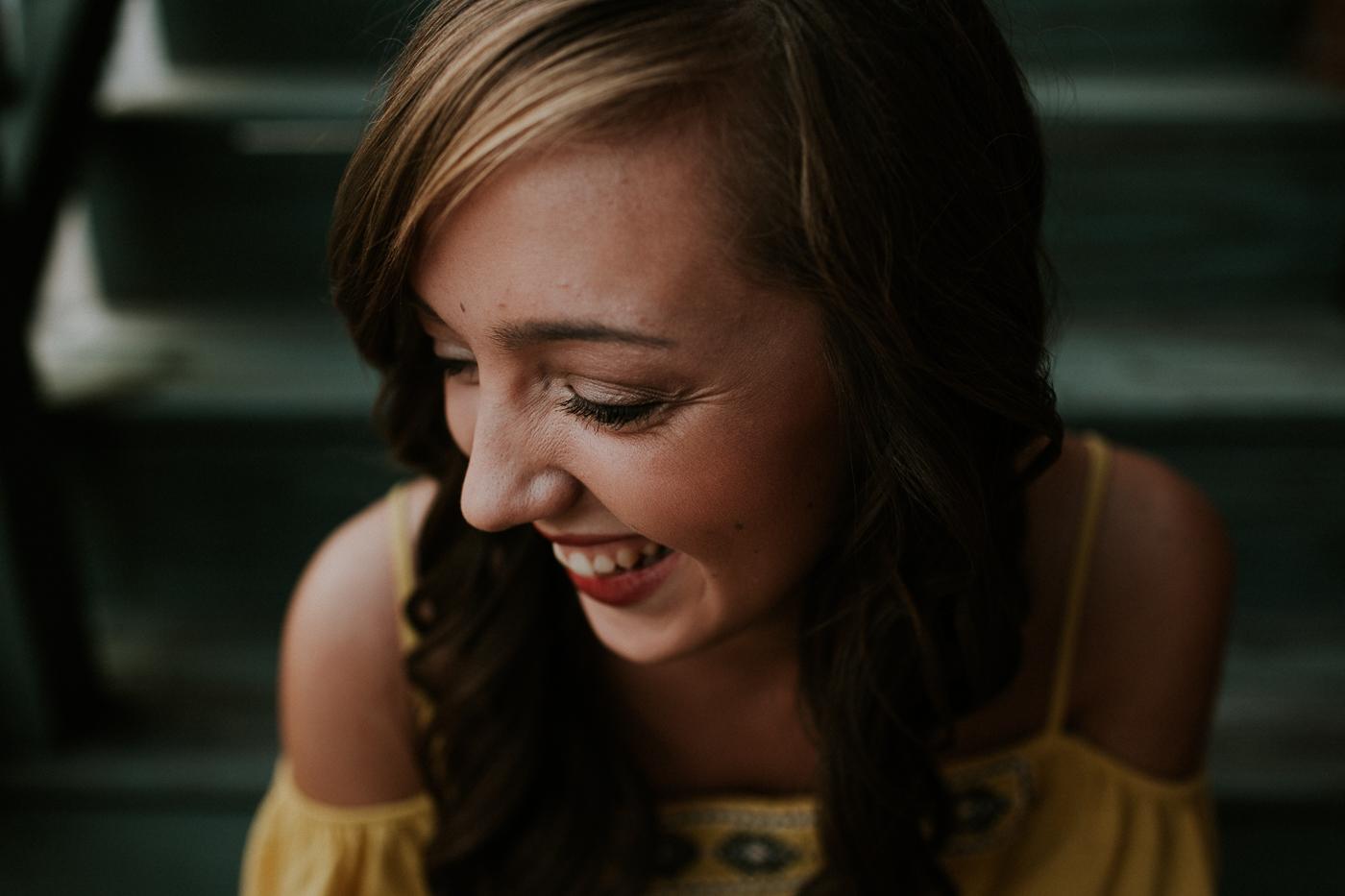 2017 high school senior portrait by Grace E. Jones Photography