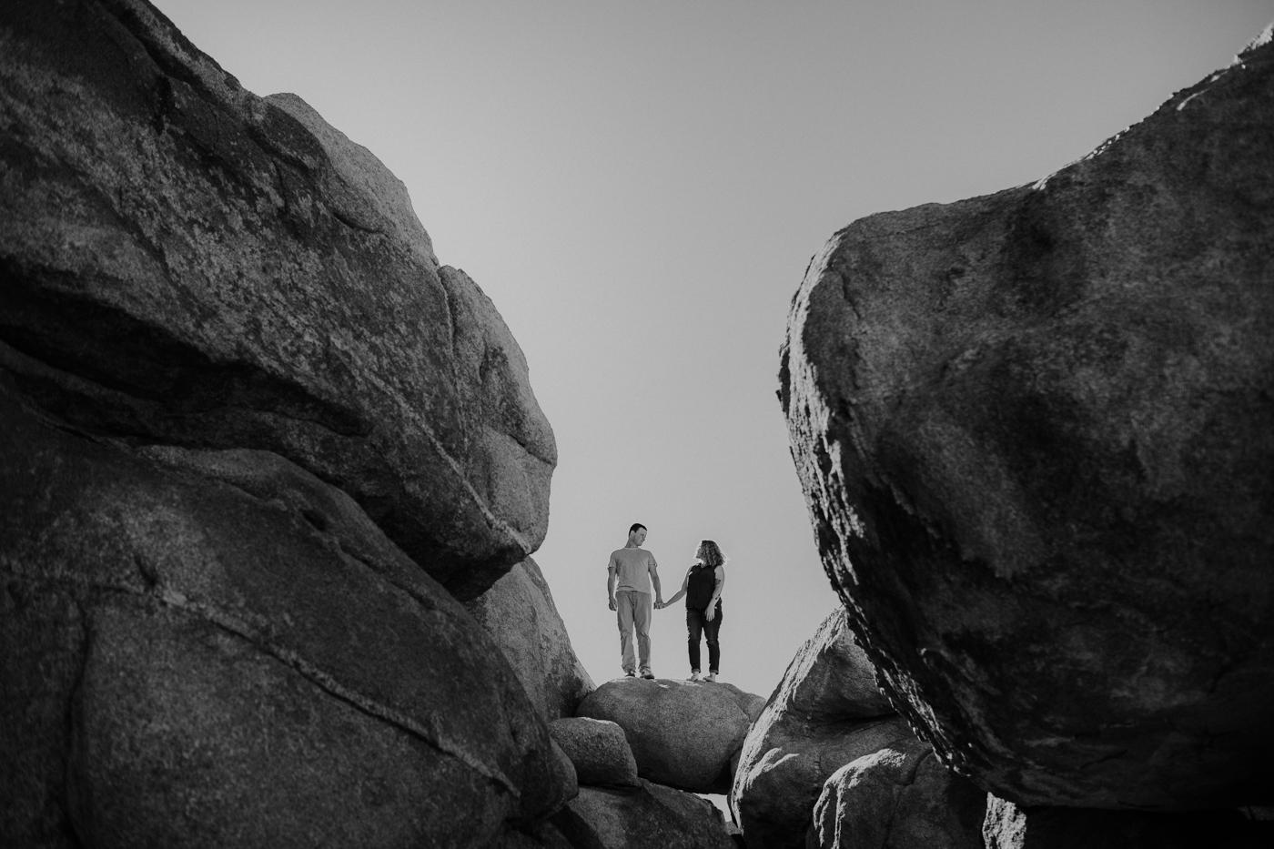 Grace E Jones Photography engagement photos Joshua tree national park California