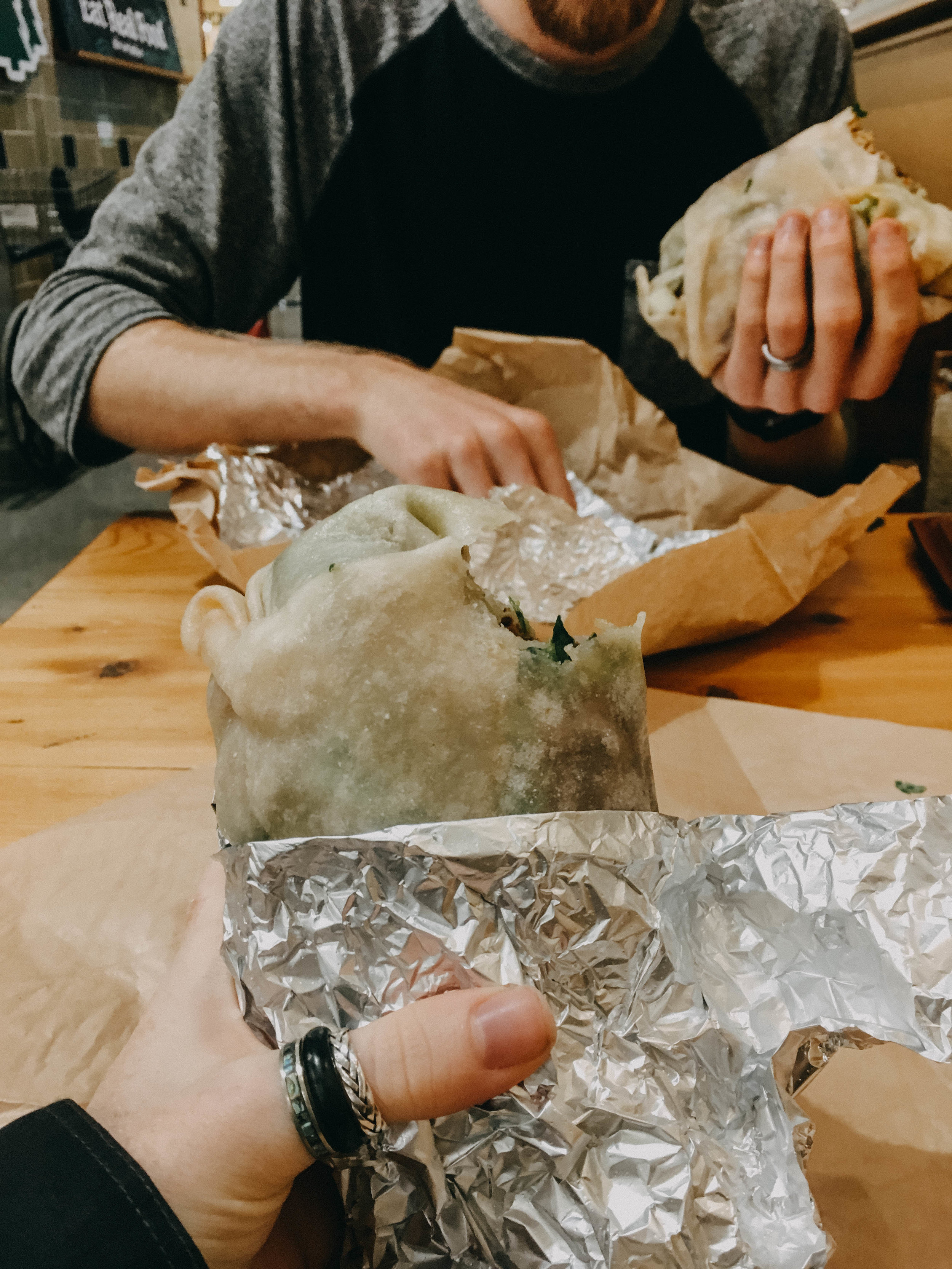 The Whole Foods in Portland is amazing! On my diet I can't have grains, so burritos are normally a no-no for me, but they had cassava tortillas at their taqueria! We went there for lunch a lot! Even when we drove back through we stopped. #dedicated
