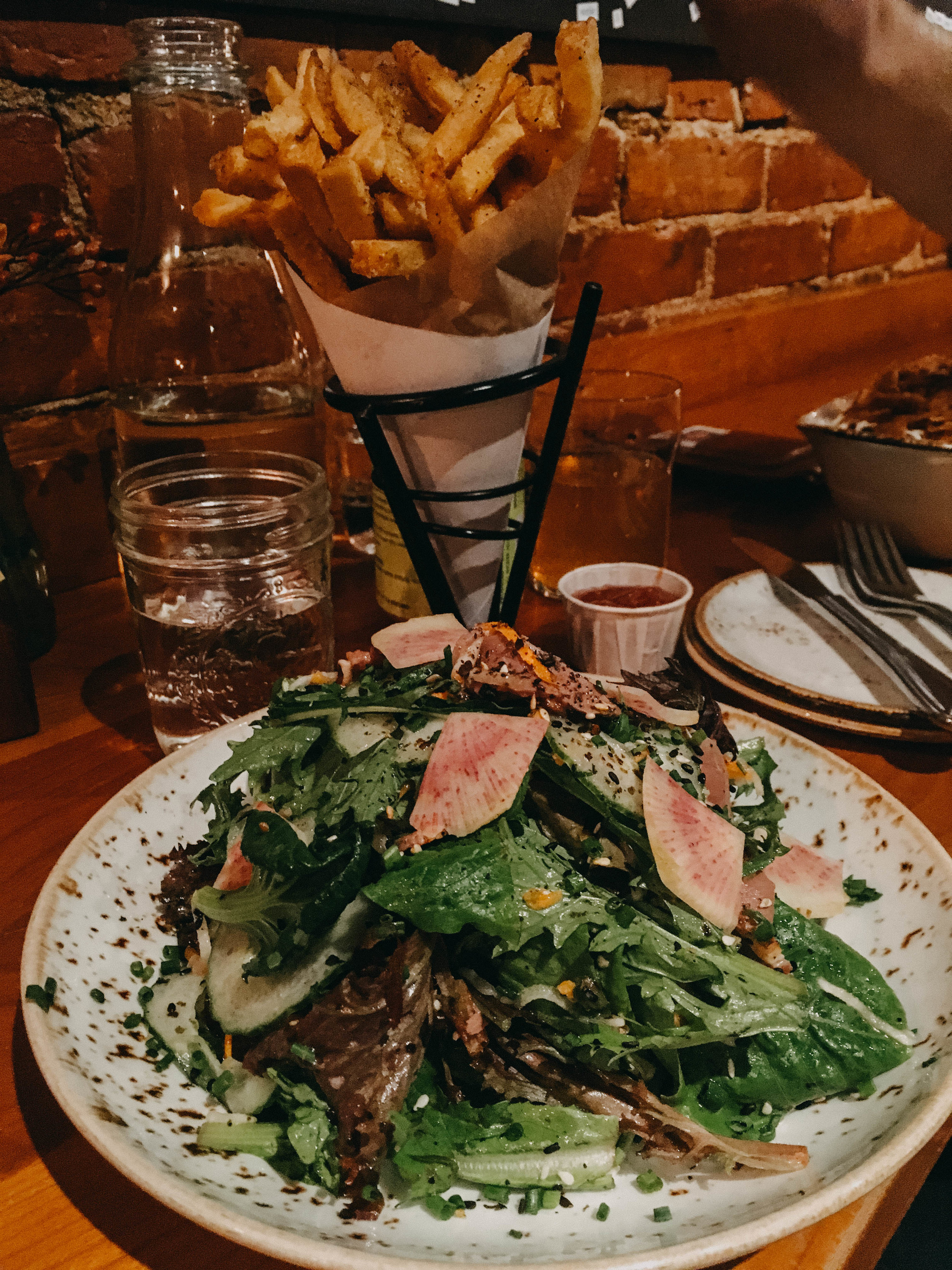 Duckfat, one word to sum that experience up would be DANGGGGGG! Their fries are cooked in duck fat, their salads have duck on them, it's just mind blowing and so goooood! This was the one meal that I cheated and ate something I wasn't suppose to...