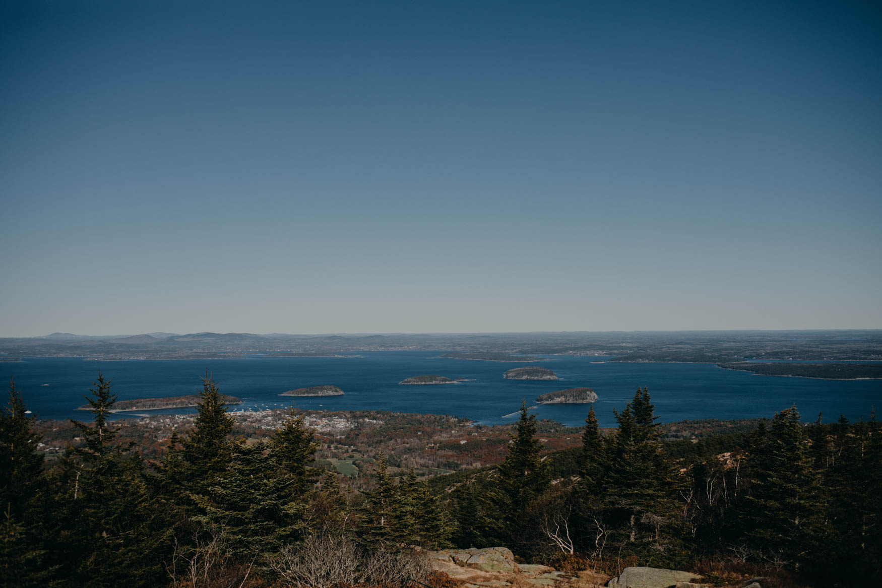 The view from the top of Cadillac Mountain, we wanted to go for sunrise, but there was no way that that was going to happen! It was beautiful, but also the coldest place ever! We only spent a total of about 5 minutes there because we couldn't take the cold and wind!