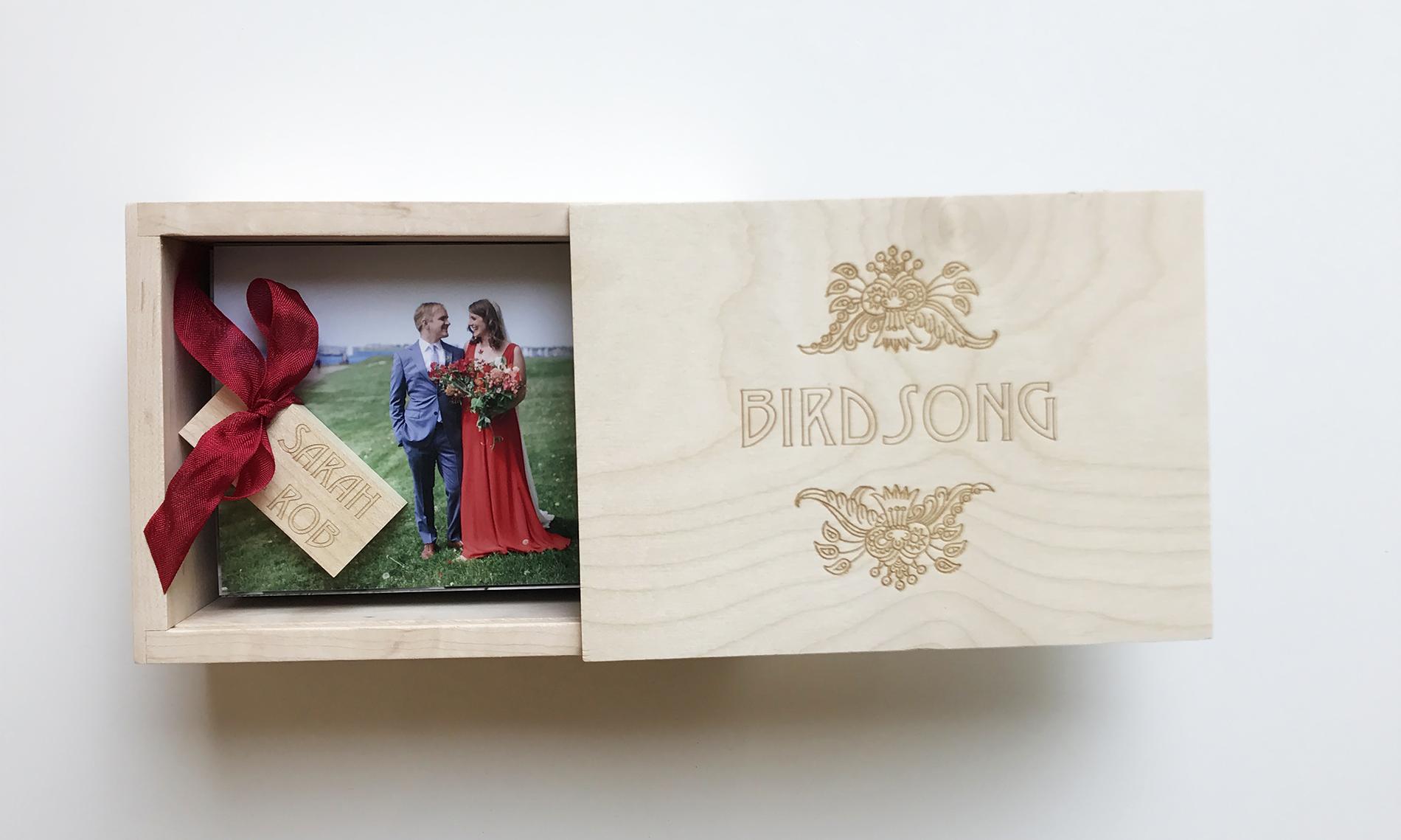 Custom Heirloom Box with Complimentary 100 Proofs