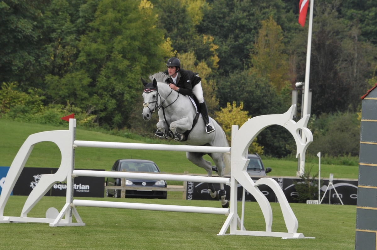 Clear the Way jumping the Olympic White Horse