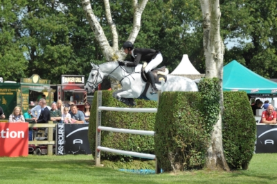Hermione jumping the Hickstead Derby with only 4 faults at the Derby Bank
