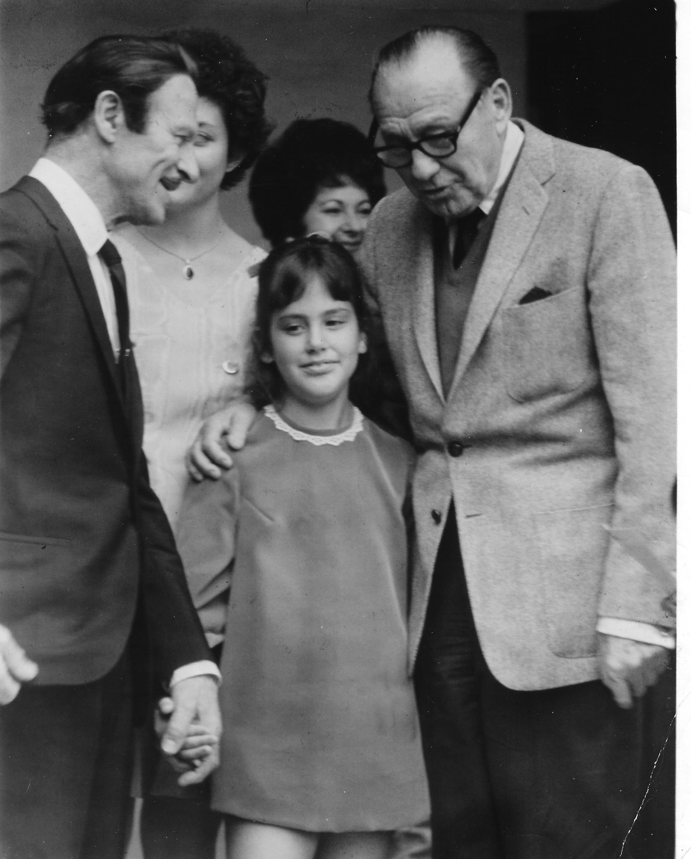 Jack Benny and Manuel Compinsky