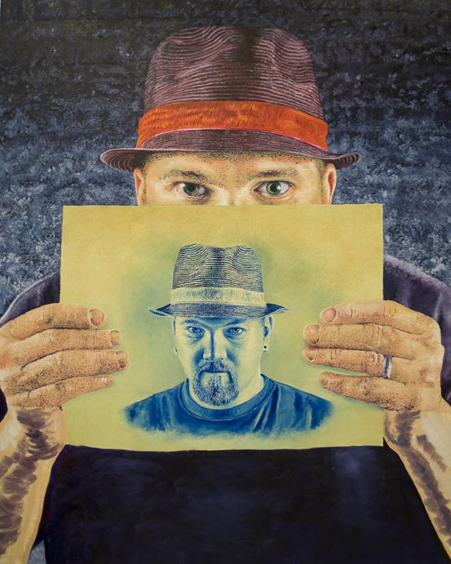 "Self portrait    60"" x 75""  2010"