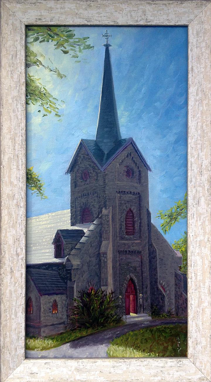 Morning sun on Christ Church