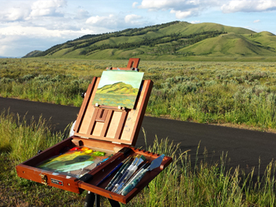 Painting Blacktail Butte