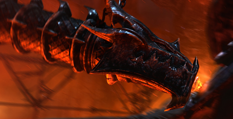PROJECT : World of Warcraft :  Cataclysm   Released : 2010  ROLE : Lead Cinematic Artist   Contributed   Modeling - Texturing - Surfacing - Layout   Textured Battering Ram set piece & provided additional modeling. Generated shot layout.